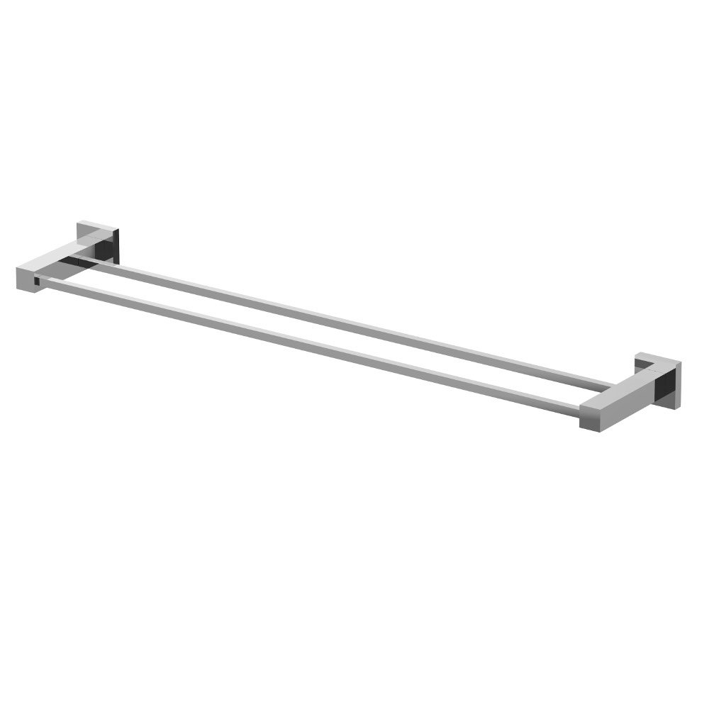eviva twin toweller towel bar chrome bathroom accessories