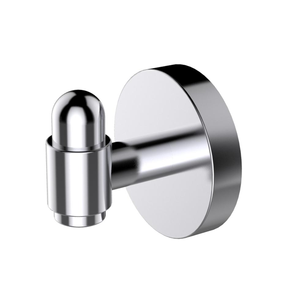 EVAC30BN A Main - Eviva Bullet Towel or Robe Hook Round Design (Brushed Nickel) Bathroom Accessories