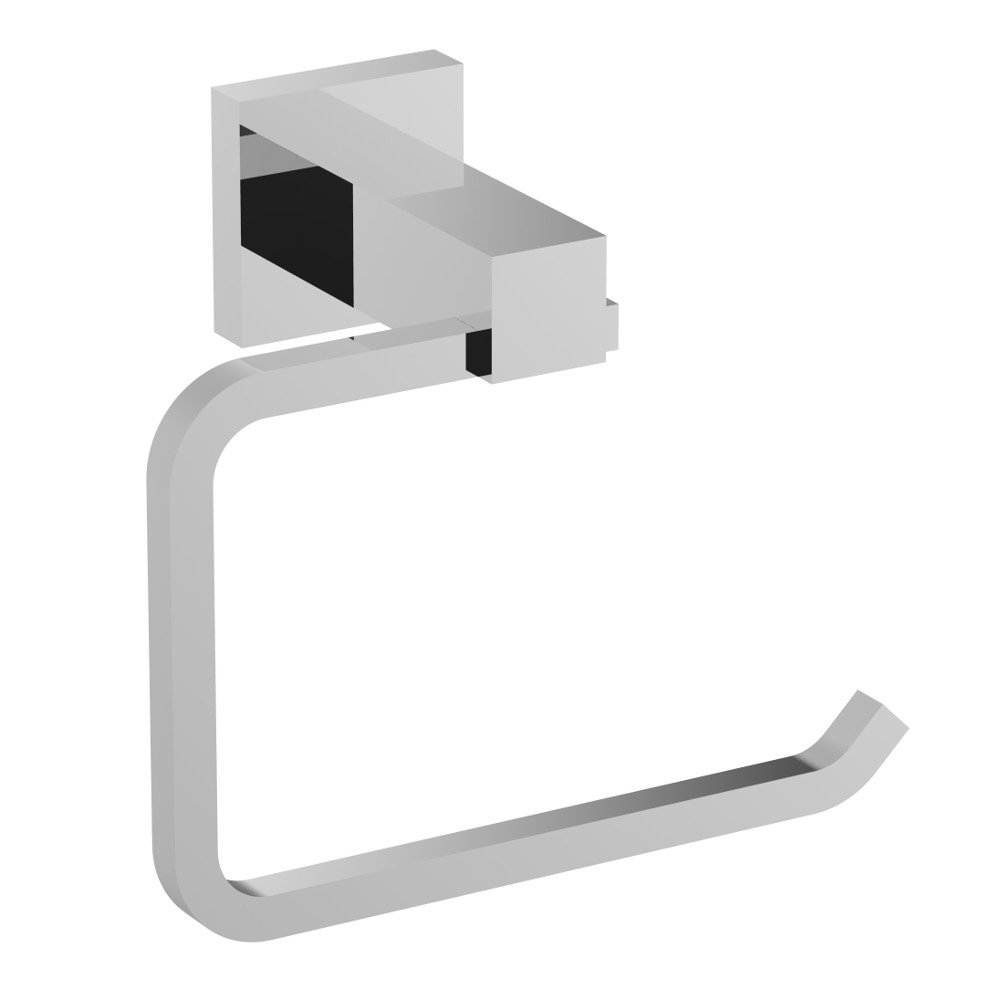 eviva square holdy toilet paper or towel holder chrome bathroom accessories