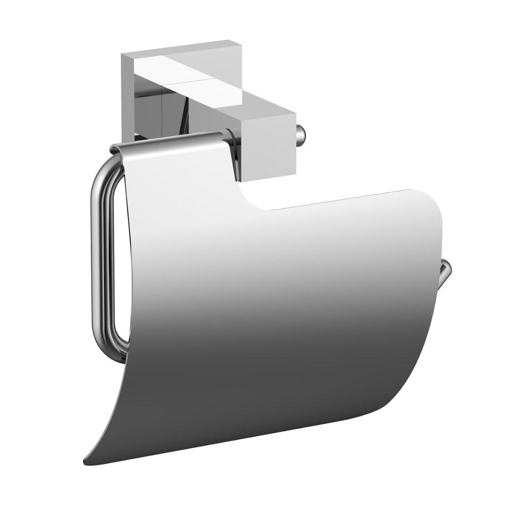 Eviva toilet paper holdy toilet paper holder chrome for Chrome toilet accessories
