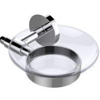EVAC70CH A Main 202x202 - Eviva Clear Glassy Soap Dish Holder Wall Mount (Chrome) Bathroom Accessories