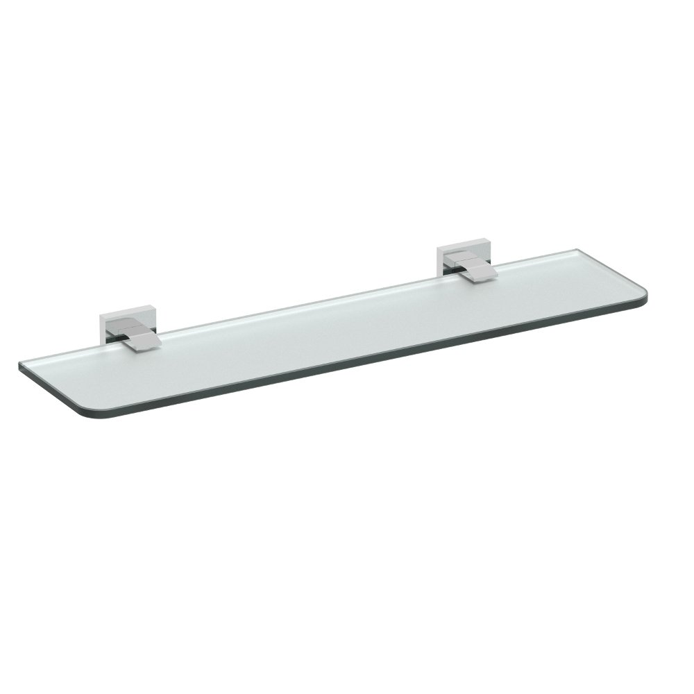 EVAC80BN A Main - Eviva Klim Glass Shelf Wall Mount (Brushed Nickel) Bathroom Accessories