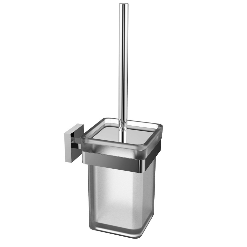 Eviva cleansi toilet brush chrome bathroom accessories for Chrome bathroom accessories