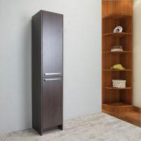 "EVCB1600 16GOK A 01 202x202 - Eviva Lugano 16"" Grey-OakModern Bathroom Linen Side Cabinet Storage"