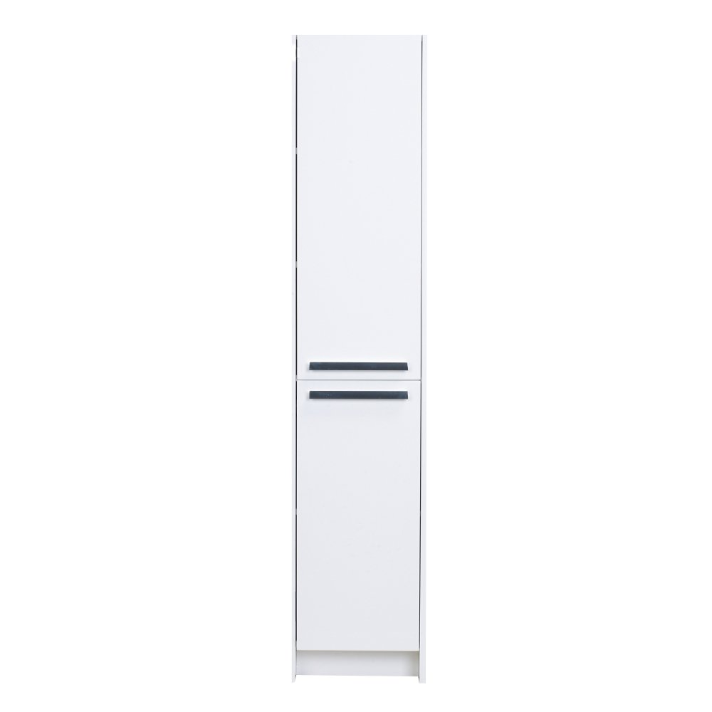 "EVCB1600 16WH A Main - Eviva Lugano 16"" White Modern Bathroom Linen Side Cabinet Storage"