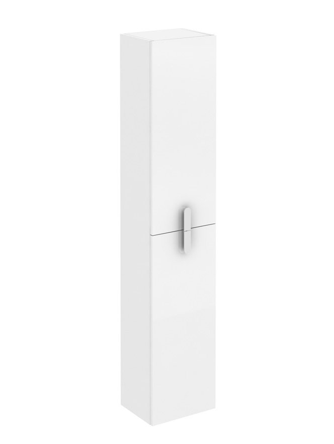 """EVCB32 12WH Round A Main - Eviva Cali 12"""" White Modern Bathroom Linen Side Cabinet"""
