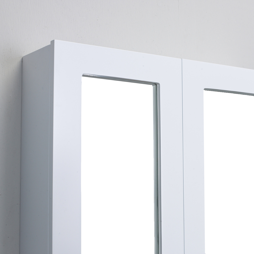 White Wall Mount Medicine Cabinet Evcb511 24wh A Main Touch To Zoom 01 02 03
