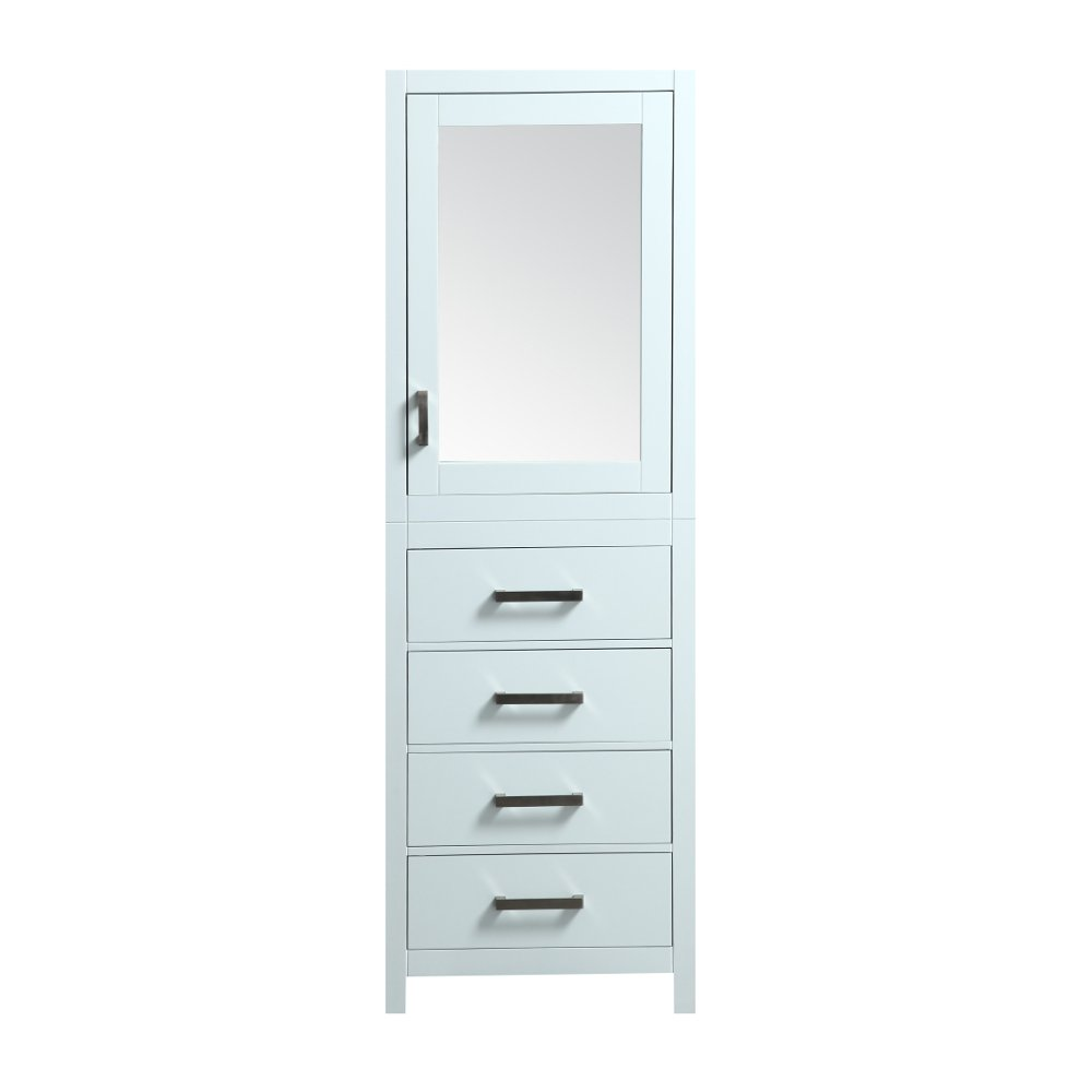 """EVCB514 24WH A Main - Eviva New York 24"""" White Side/Linen Bathroom Cabinet Storage"""