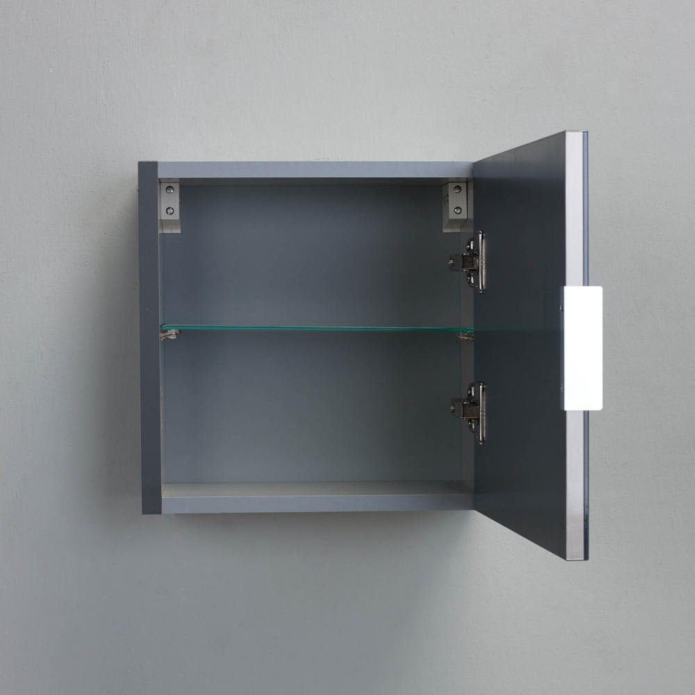 Eviva Libra 14 Quot Grey Modern Wall Mount Side Cabinet