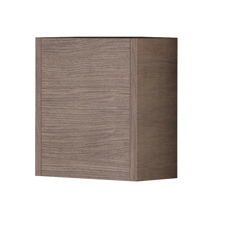 "EVCB525 14MOK A Main - Eviva Escorpio 14"" Medium Oak Modern Bathroom Side Cabinet Wall Mount"