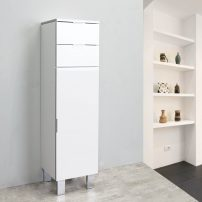 EVCB530 14WH A 01 202x202 - Eviva Geminis 14 inch White Free-Standing Side Cabinet