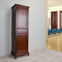 "EVCB709 24BR A 01 202x202 - Eviva Elite Stamford 24"" Brown Solid Wood Side/Linen Bathroom Cabinet"