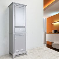 """EVCB709 24GR A 01 202x202 - Eviva Elite Stamford 24"""" Grey Solid Wood Side/Linen Bathroom Cabinet"""