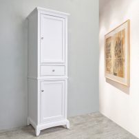 """EVCB709 24WH A 01 202x202 - Eviva Elite Stamford 24"""" White Solid Wood Side/Linen Bathroom Cabinet"""