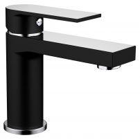 EVFT1336B CH A Main 202x202 - Eviva Pure Single Handle Bathroom Sink Faucet in Matte Black Chrome