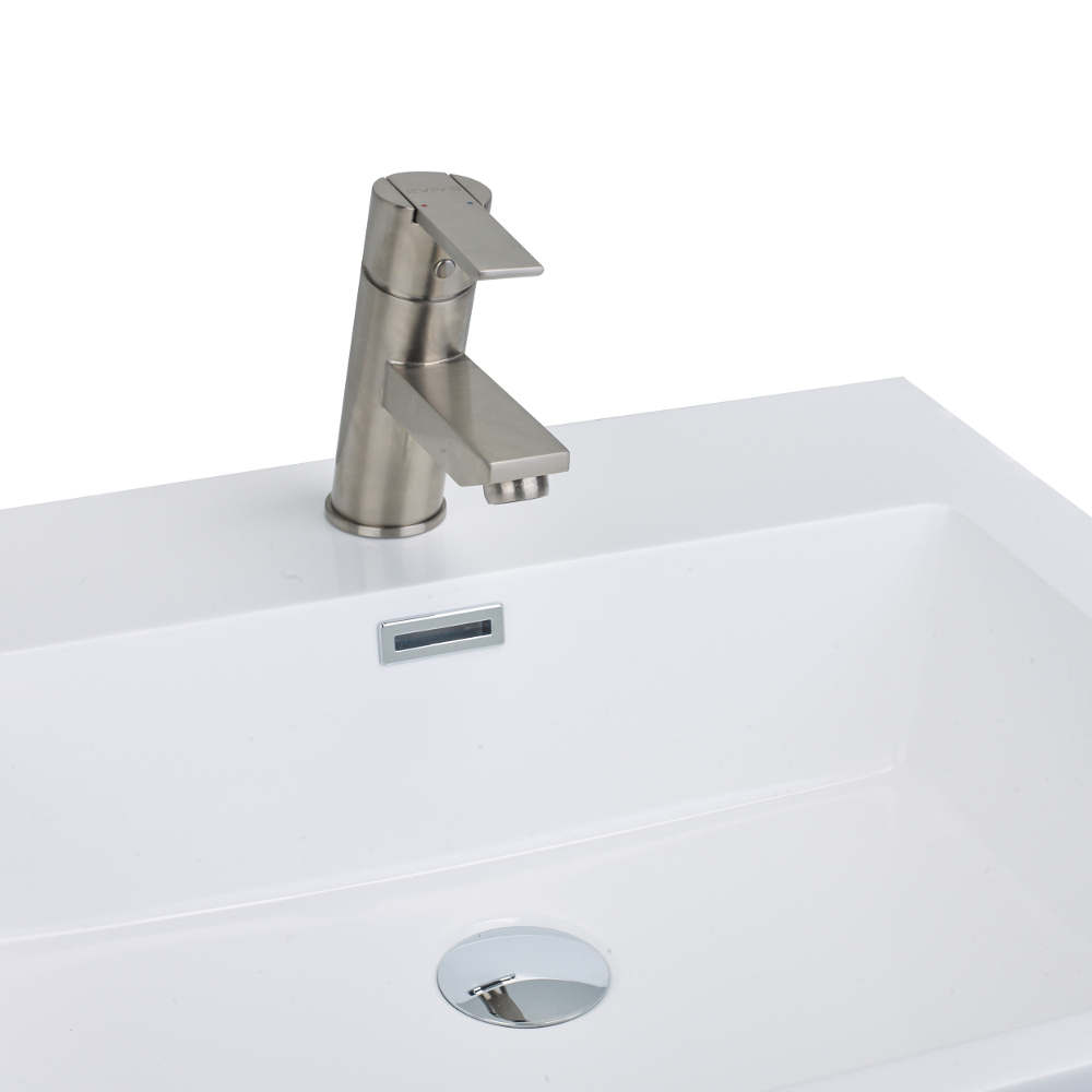 EVFT149BN A Main - EVIVA Midtown Single Handle (Lever) Bathroom Sink Faucet (Brushed Nickel)