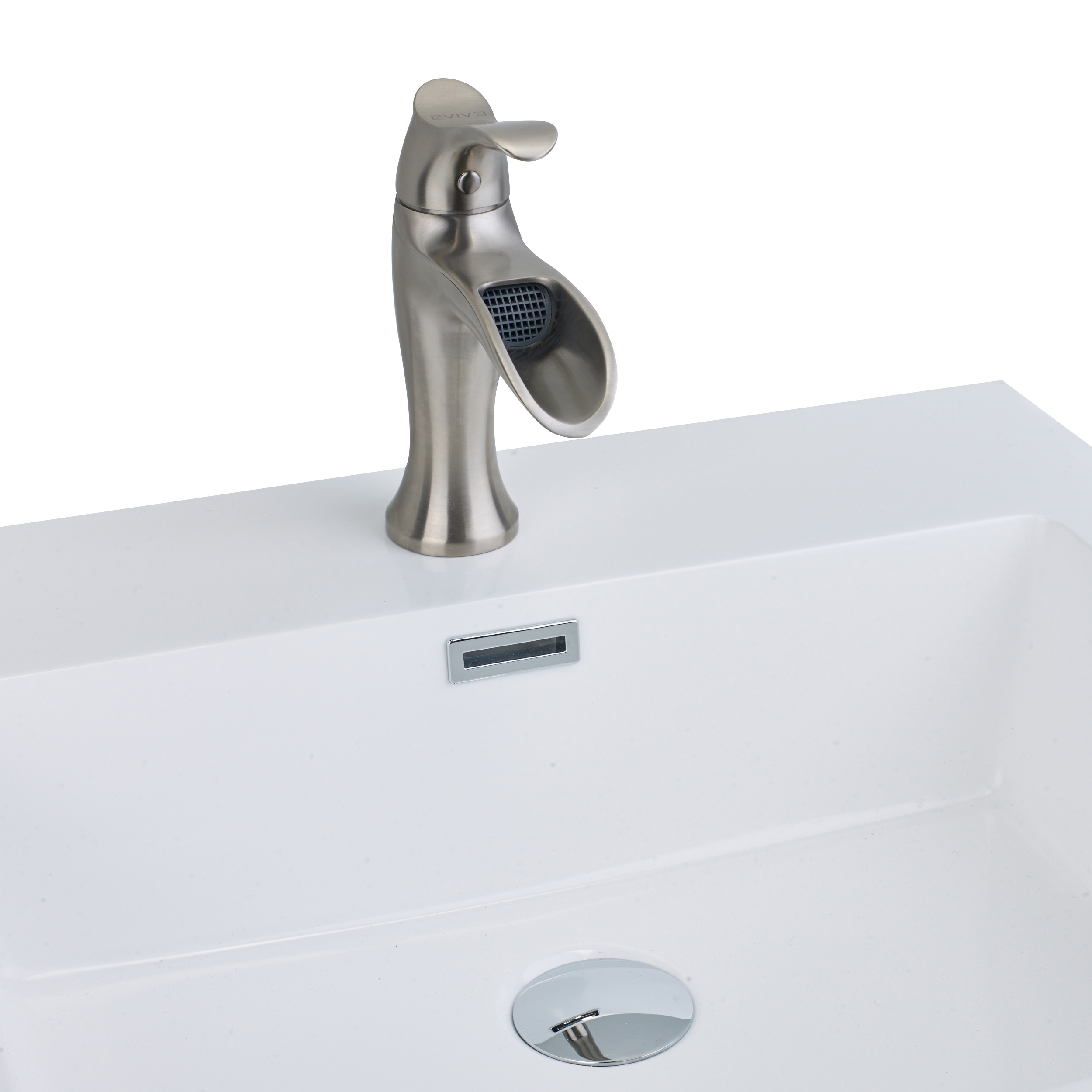 EVIVA Swan Luxury Water-fall Single Handle (Lever) Bathroom Sink