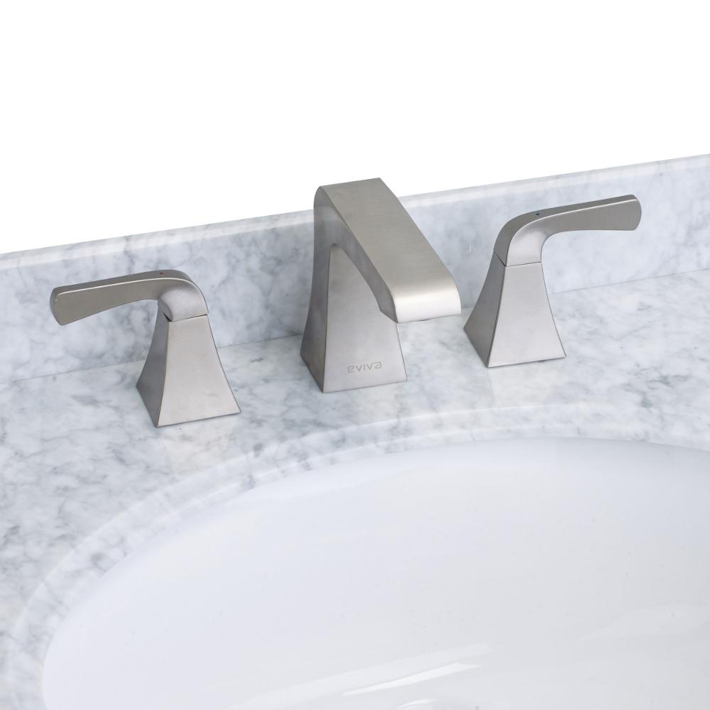 Incredible Eviva Butterfly Widespread 2 Handles Bathroom Faucet Brushed Nickel Interior Design Ideas Gentotryabchikinfo