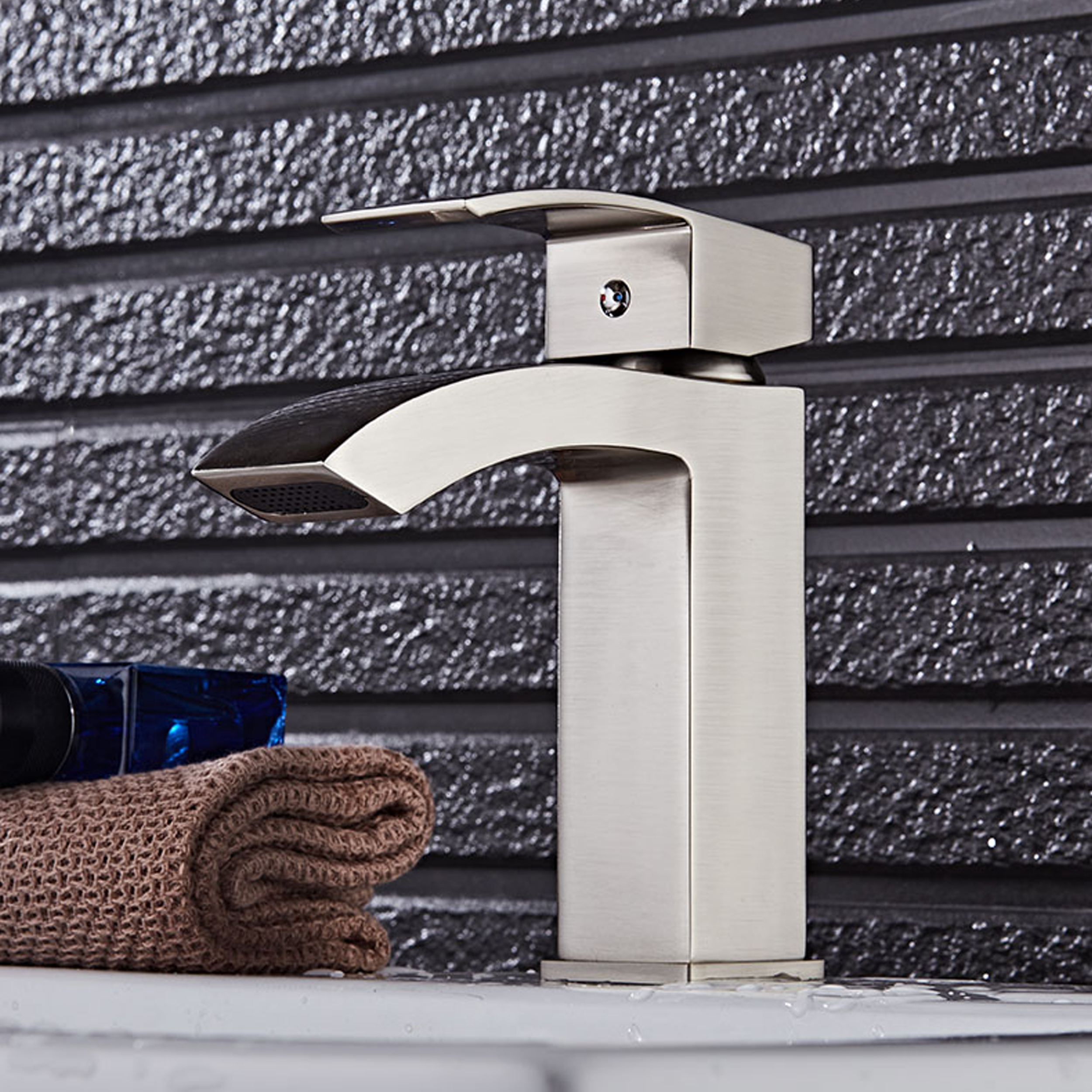 EVFT427BN A Main - Eviva Pure Single Hole One Handle Bathroom Faucet in Brushed Nickel Finish