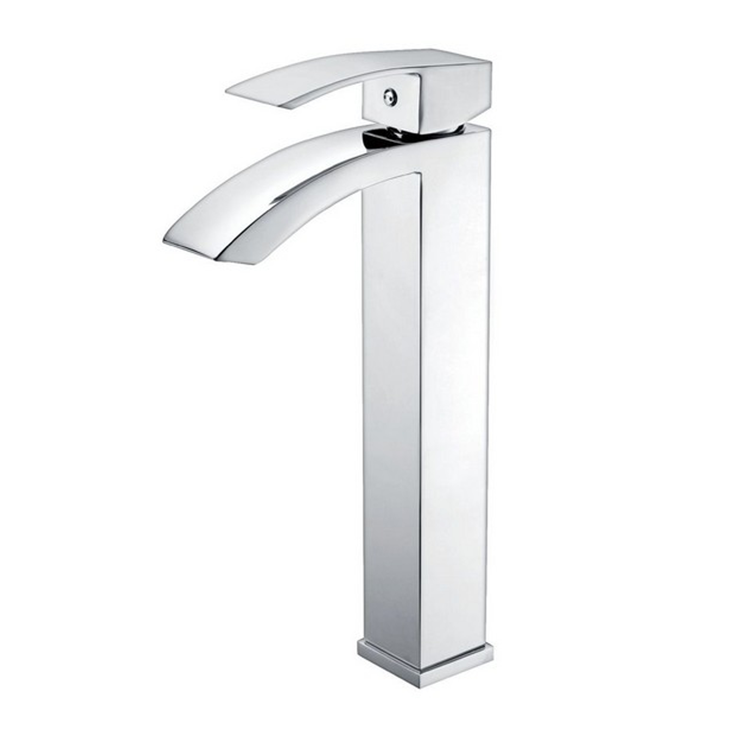 Eviva Pure Vessel Mount Single Hole One Handle Bathroom Faucet In Chrome Finish