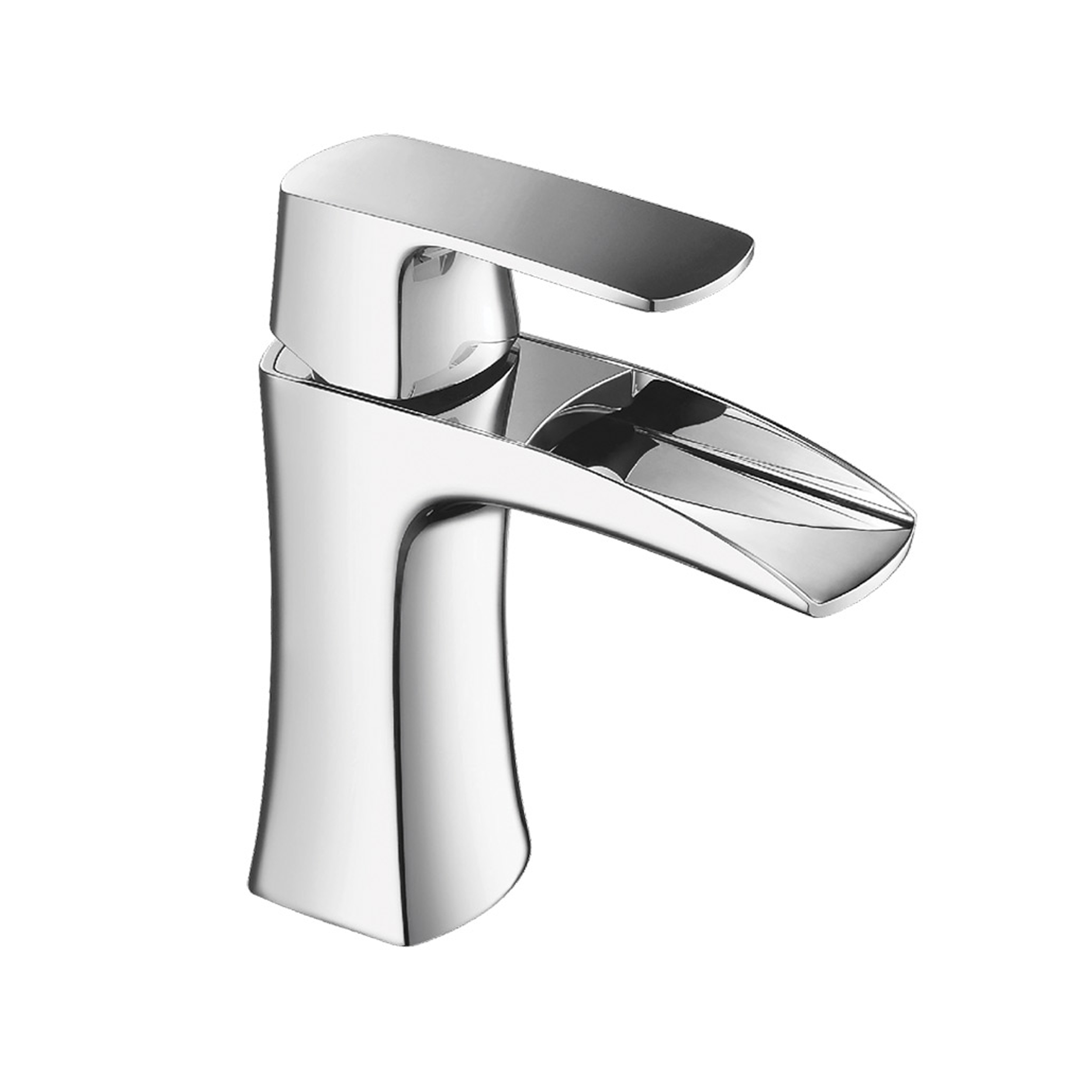 Eviva Lulu Single Hole One Handle Bathroom Faucet in Chrome Finish ...