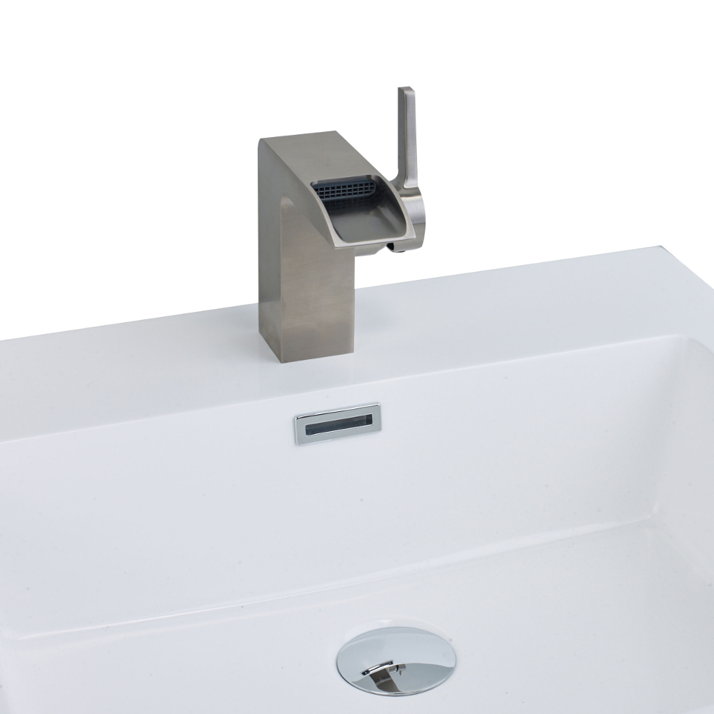 EVFT93BN A Main - EVIVA Jaida C. Water-fall Single Handle (Lever) Bathroom Sink Faucet (Brushed Nickel)