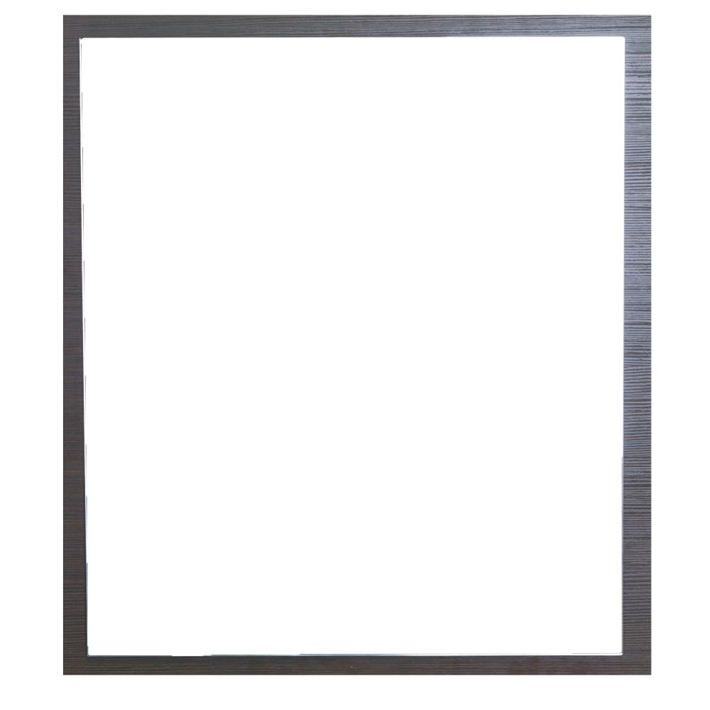 "EVMR 24WG SPN A Main - Eviva Reflection 24"" Wenge Full Framed Bathroom Wall Mirror"