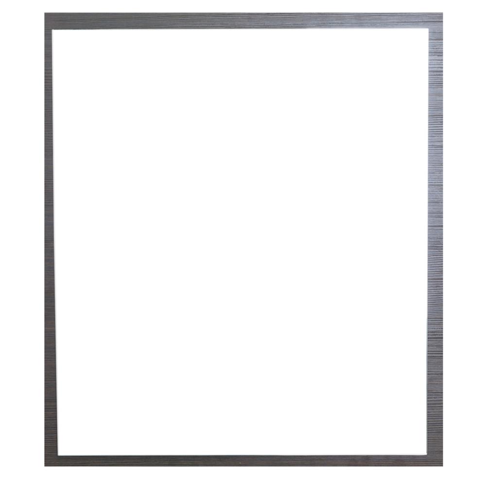 "EVMR 32WG A Main - Eviva Reflection 31.5"" Wenge Full Framed Bathroom Wall Mirror"