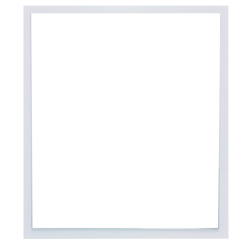 "EVMR 32WH A Main - Eviva Reflection 31.5"" White Full Framed Bathroom Wall Mirror"