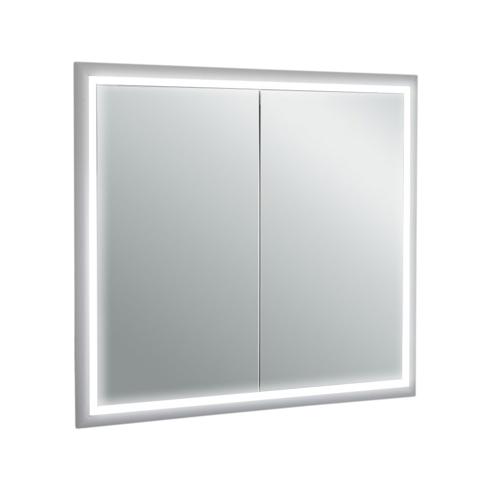EVMR26 33X30 LED A Main - Eviva EVMR26-33X30-LED Medicine Cabinet 33 Inches with LED Lights