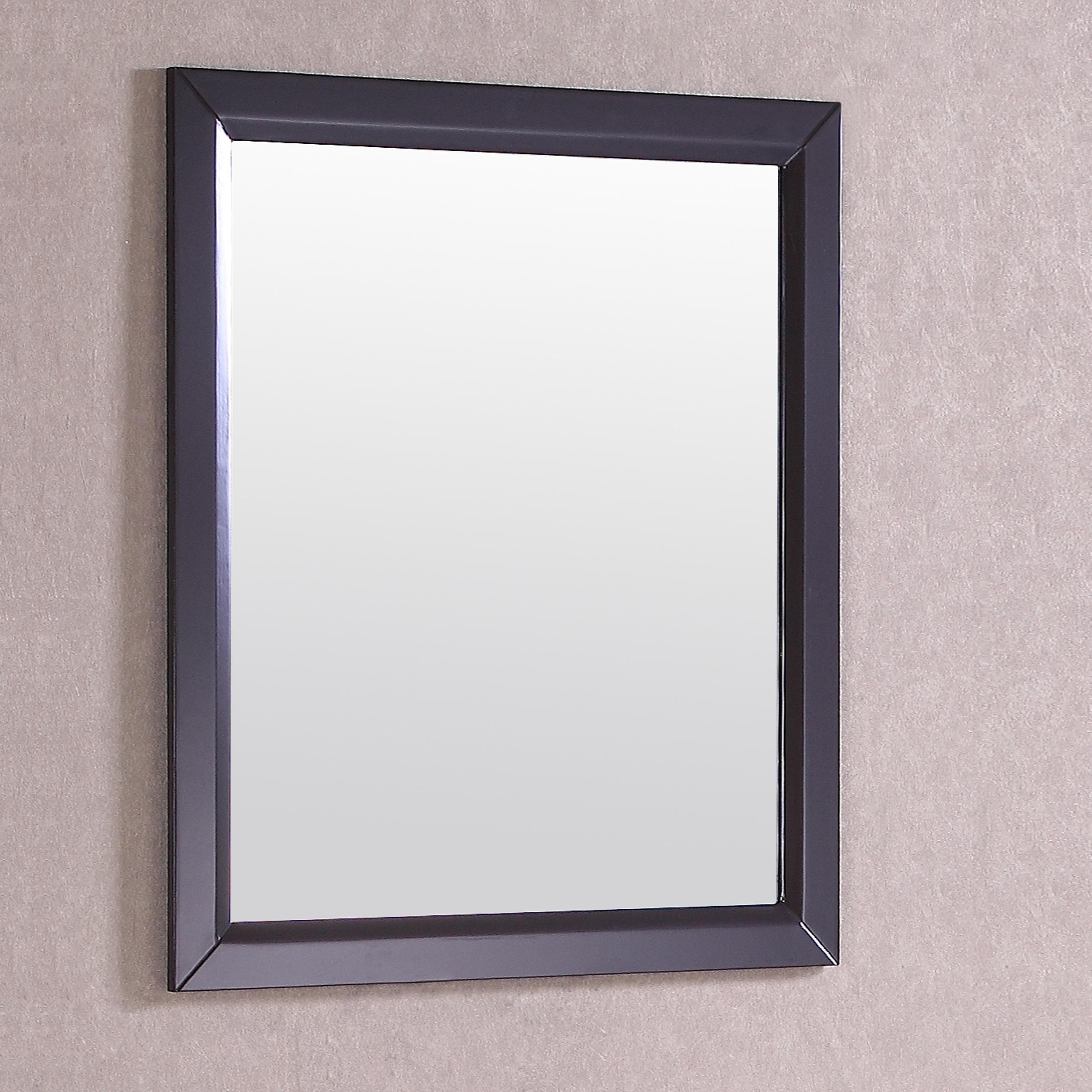 Eviva Shaker 30 Espresso Framed Bathroom Wall Mirror