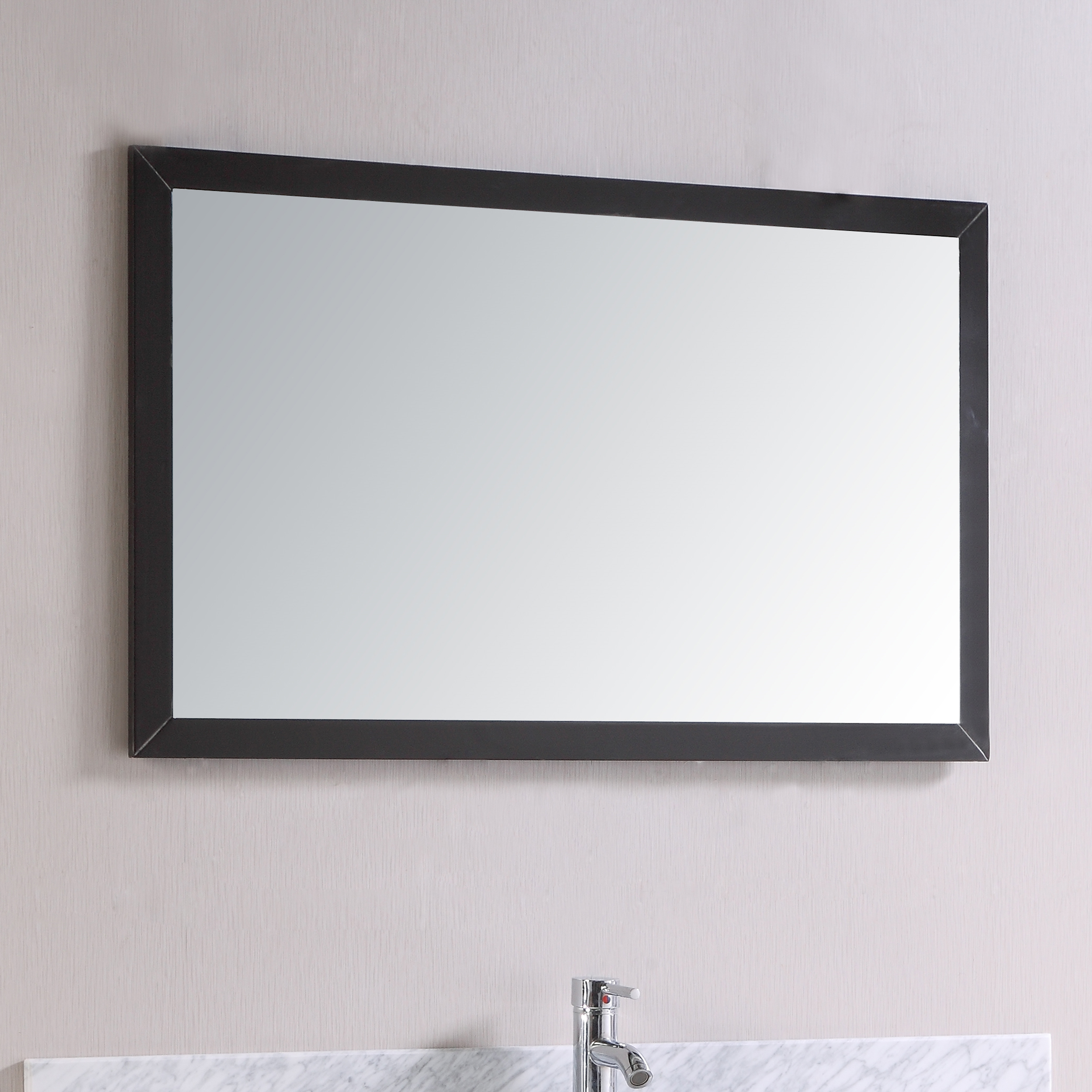 Totti Shaker 36 Espresso Framed Bathroom Wall Mirror Decors Us