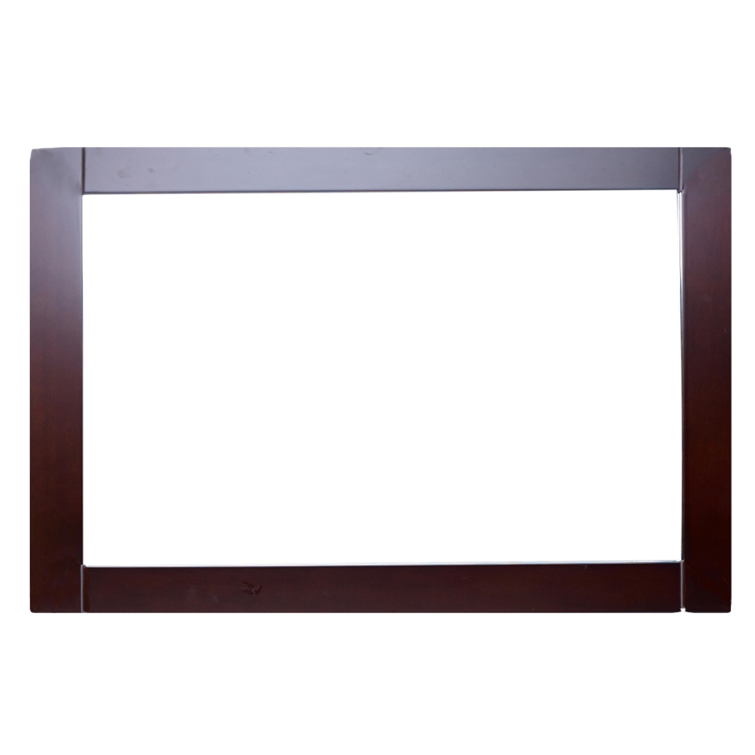 "EVMR412 36X30 TK A Main - Eviva Aberdeen 36"" Teak Framed Bathroom Wall Mirror"
