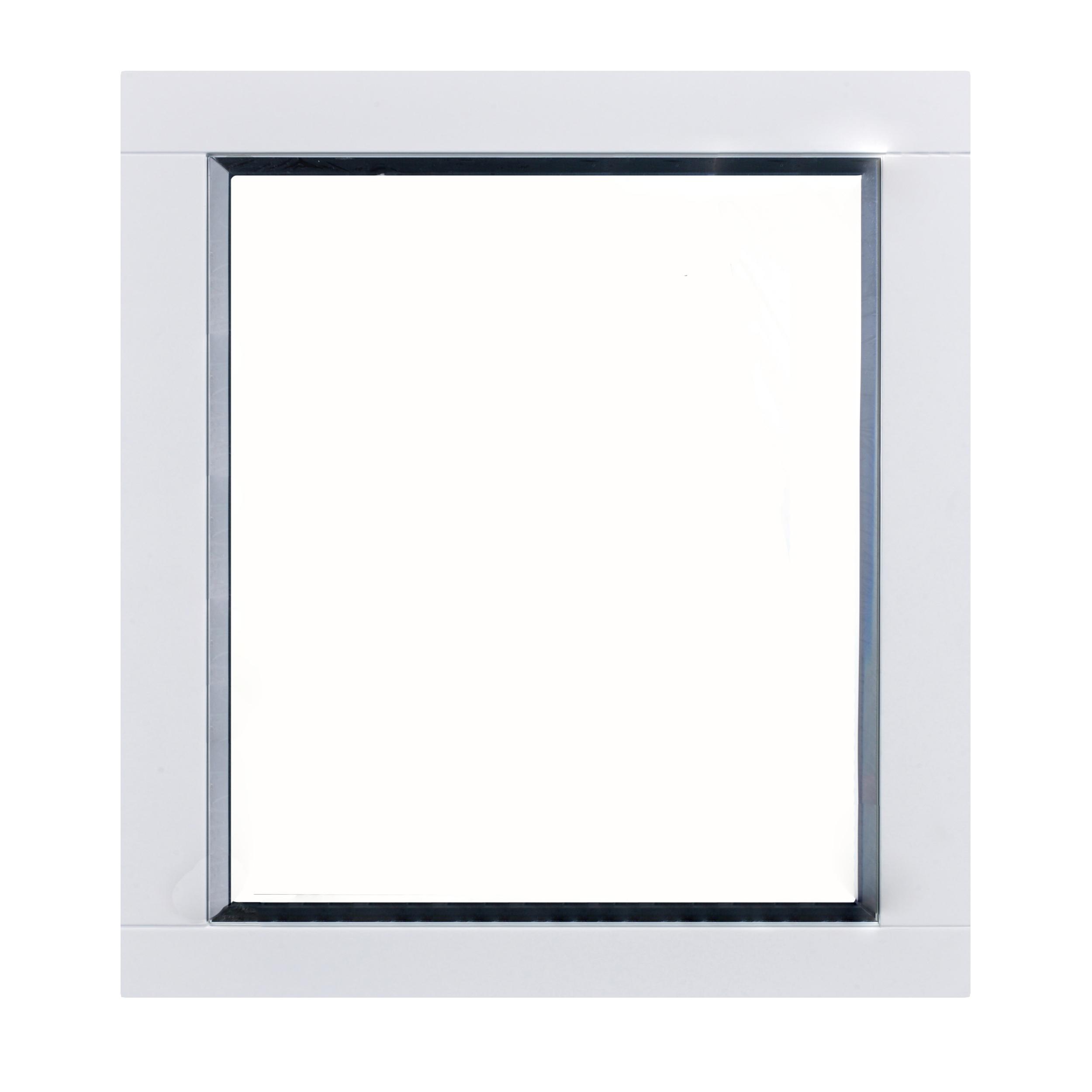 """EVMR412 36X30 WH A Main - Eviva Aberdeen 36"""" White Framed Bathroom Wall Mirror"""