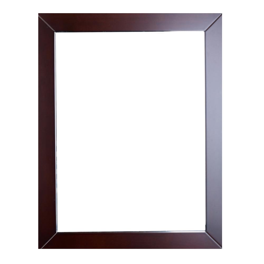 EVMR514 24X30 TK A Main - Eviva New York Bathroom Vanity Mirror Full Frame Teak 24X31 Wall Mount