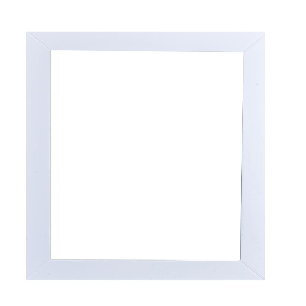 EVMR514 30X30 WH A Main - Eviva New York Bathroom Vanity Mirror Full Frame White 30X31 Wall Mount