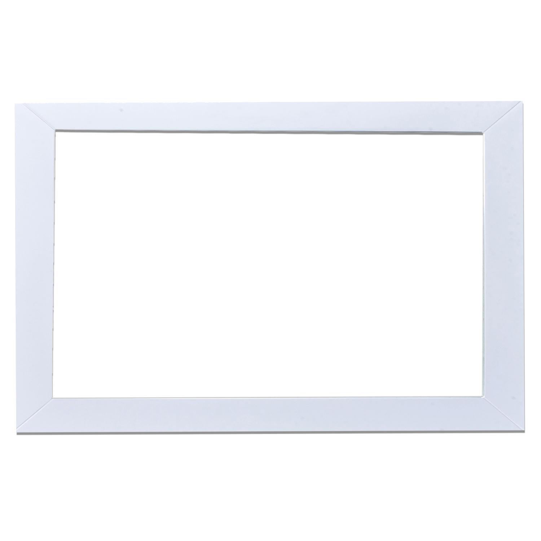 Eviva new york bathroom vanity mirror full frame white for Bathroom full wall mirror