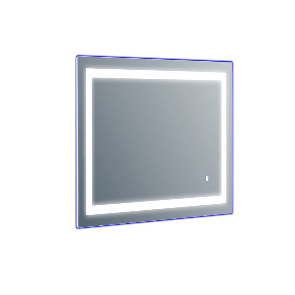 EVMR52 20X28 LED A Main - Eviva EVMR52-20X28-LED Deco Piece Wall Mounted Lighted Bathroom Vanity, Backlit LED Mirror with Frame Lights