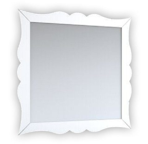 EVMR532 32WH A Main - Eviva Aranjuez Bathroom Vanity Mirror Full Frame White 32X30 Wall Mount