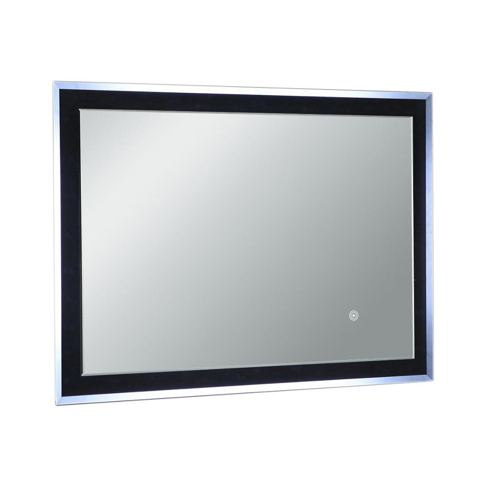 "EVMR55 24X31 LED A Main - Eviva Evolution EVMR55-24X31-LED Modern Bathroom 24"" LED Backlit Mirror with Base Lights"