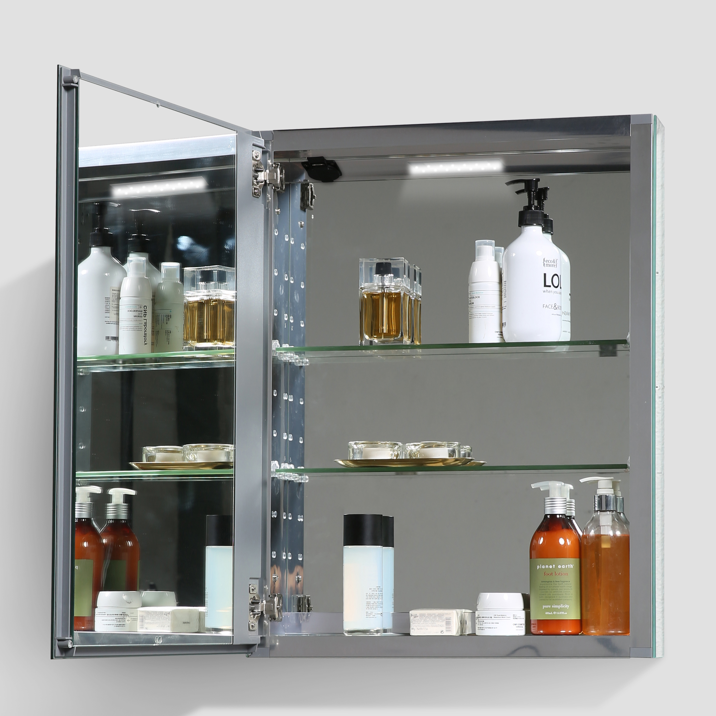 Eviva Lazy 24 Inch All Mirror Wall Mount Recessed Medicine