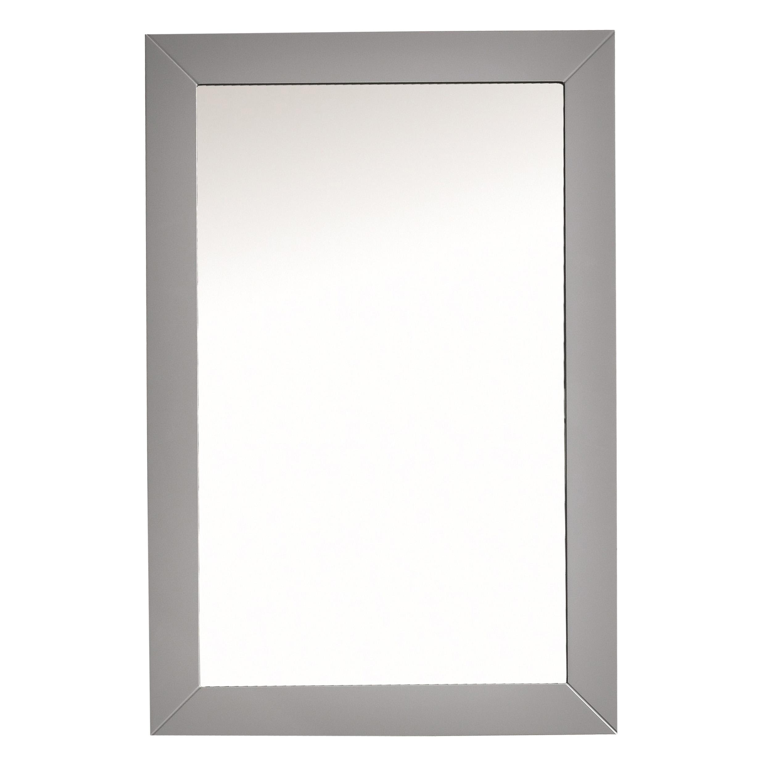 EVMR69 30GR A Main - Eviva Acclaim Transitional Grey Bathroom Vanity Mirror