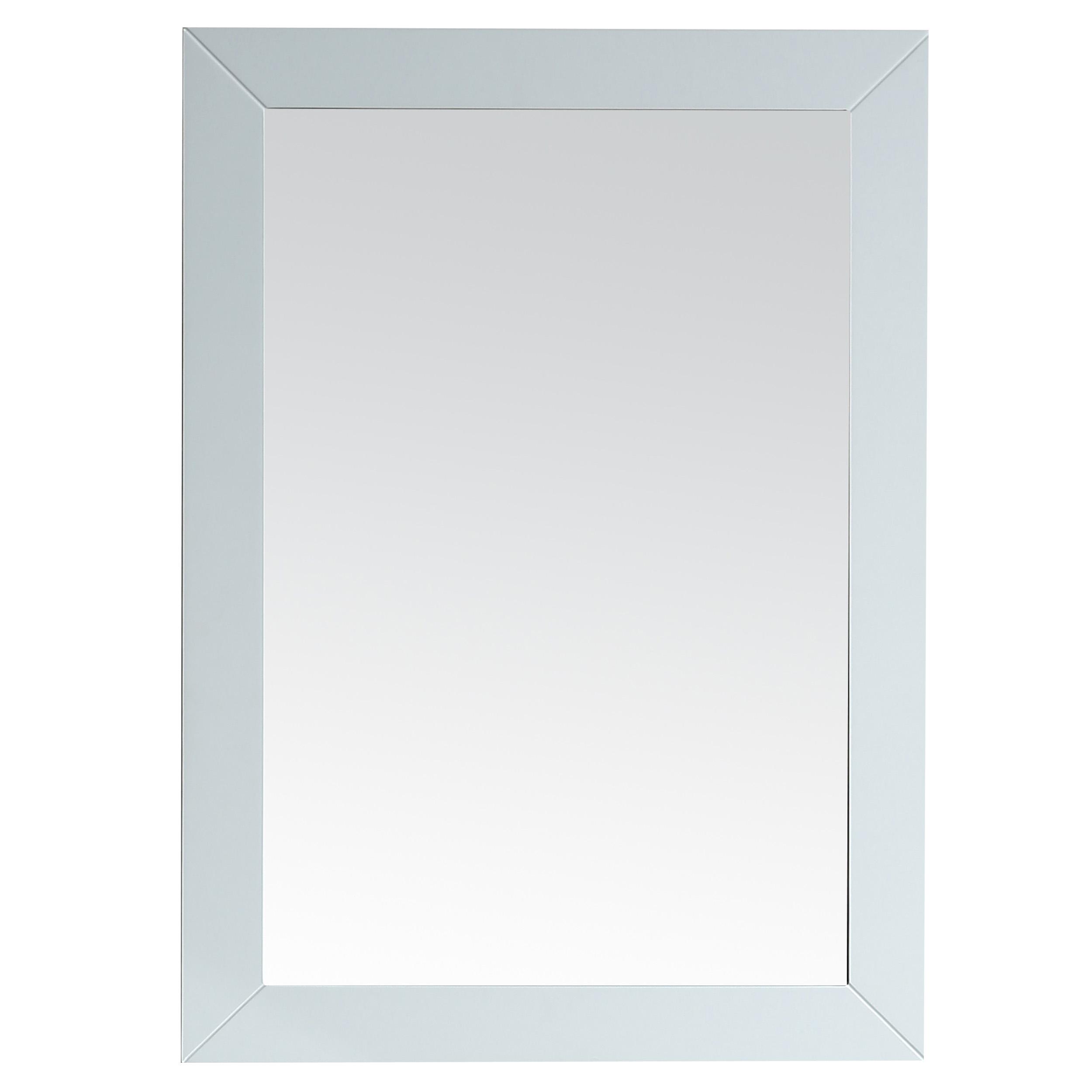 EVMR69 30WH A Main - Eviva Acclaim Transitional White Bathroom Vanity Mirror