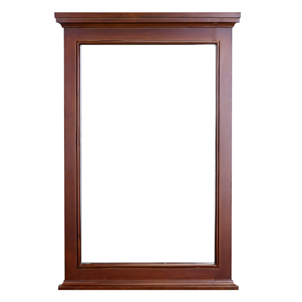 EVMR709 24TK A Main - Eviva Elite Stamford Teak(Brown) Full Framed Bathroom Vanity Mirror