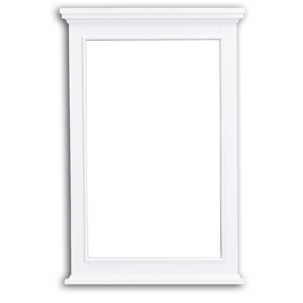 eviva elite stamford white full framed bathroom vanity mirror decors us. Black Bedroom Furniture Sets. Home Design Ideas