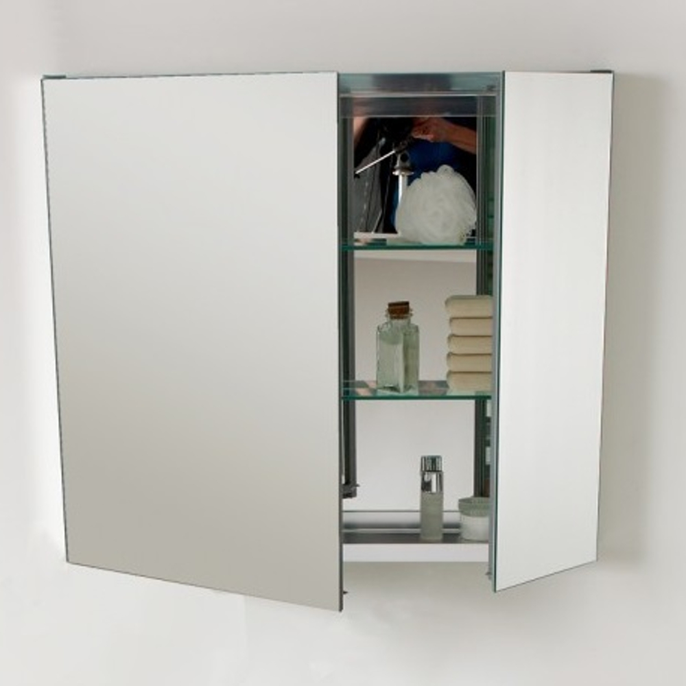 Eviva Lazy 30 Inch Mirror Medicine Cabinet With No Light
