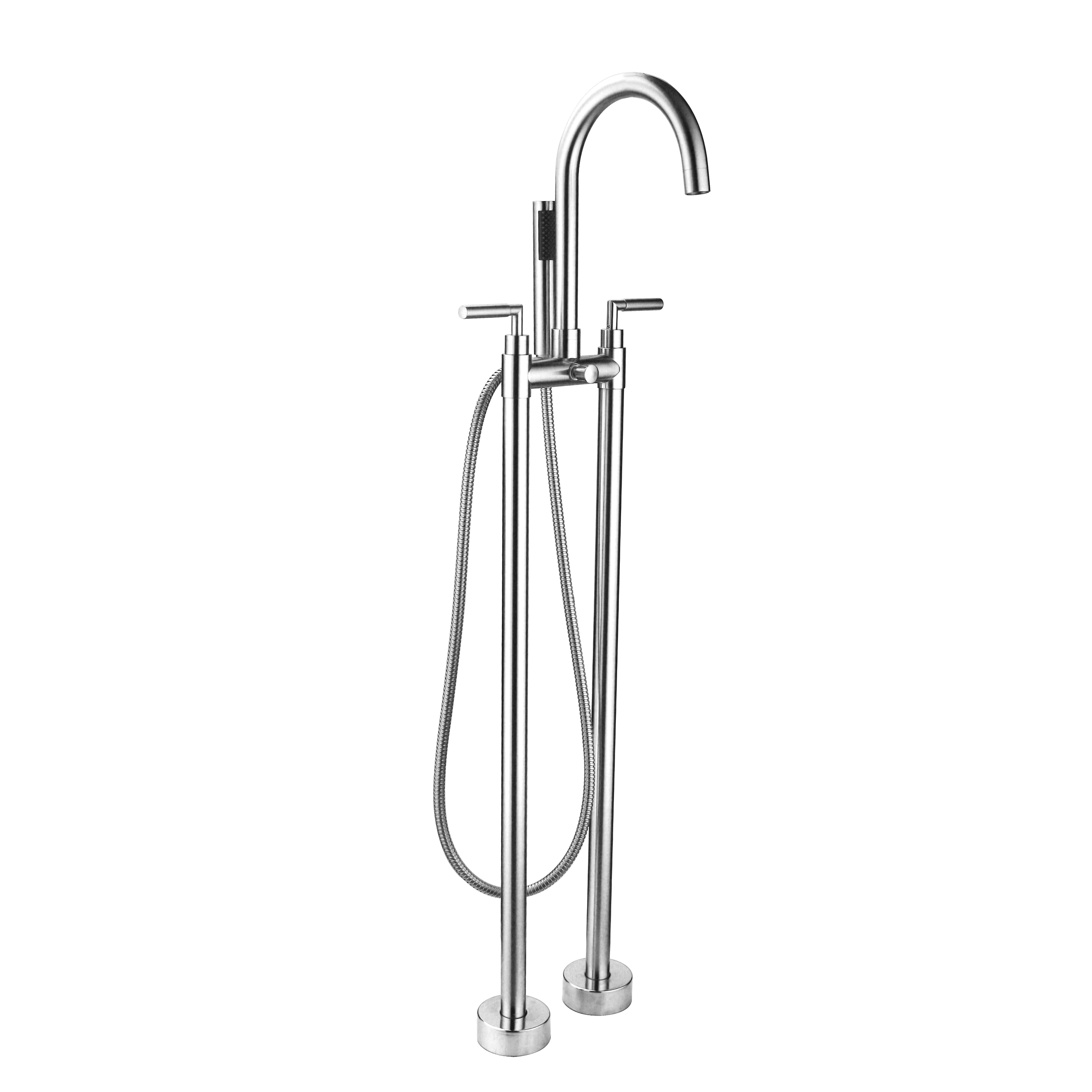 EVSH322CH A Main - Eviva Alexa Free Standing Tub Filler in Chrome Finish