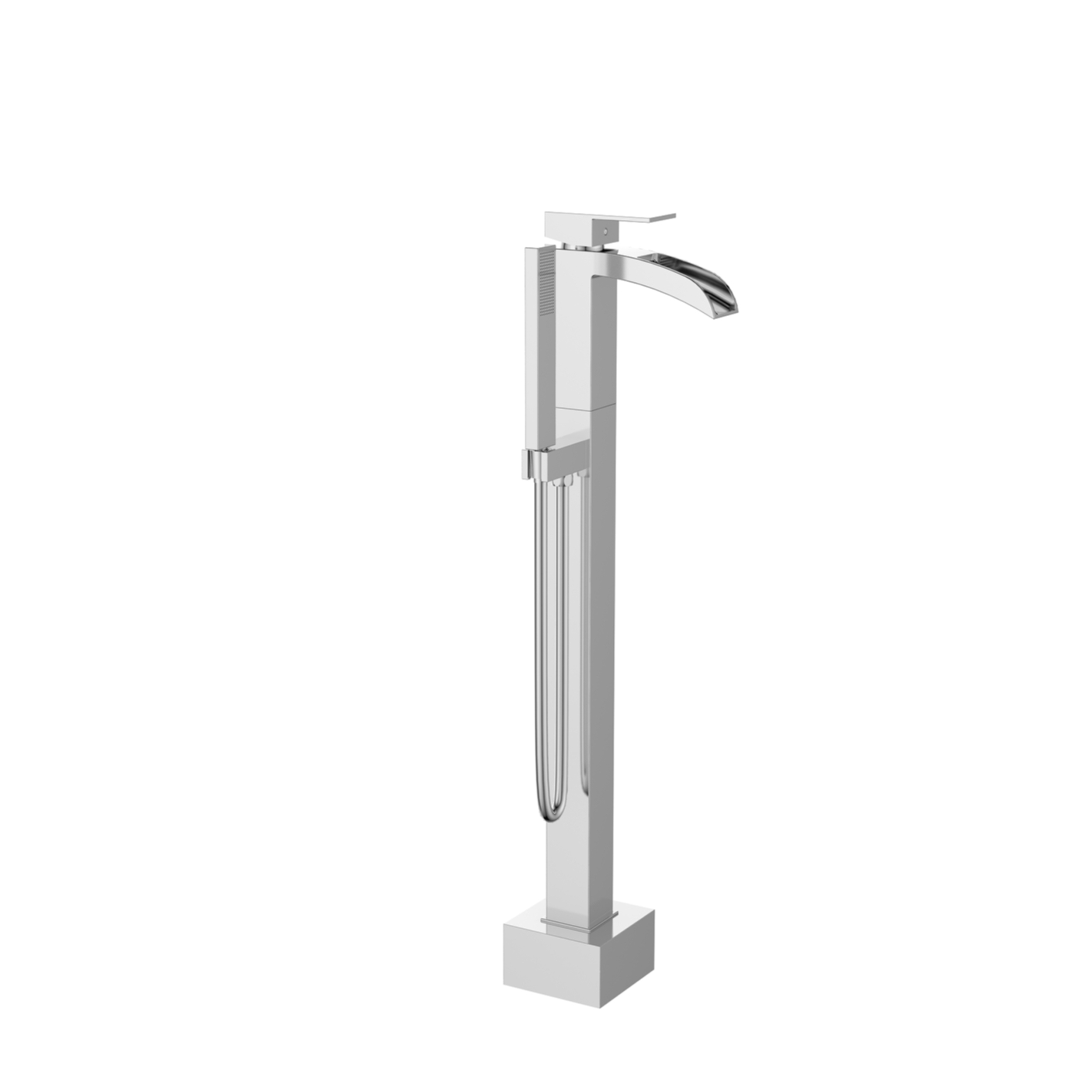 EVSH762CH A Main - Eviva Lulu Free Standing Tub Filler in Chrome Finish