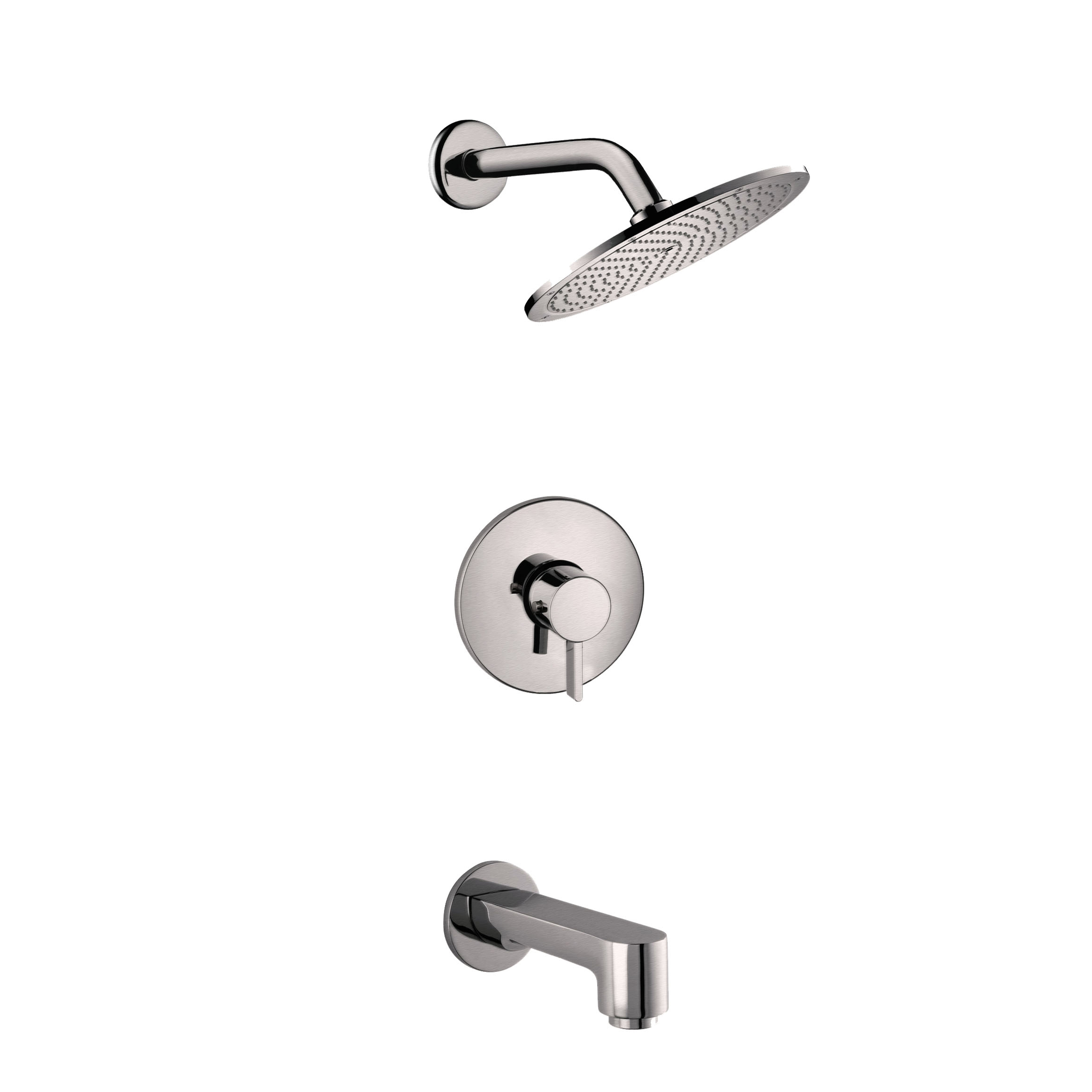 EVSH769BN A Main - Eviva Splash Shower and Tub Faucet Set in Brushed Nickel Finish