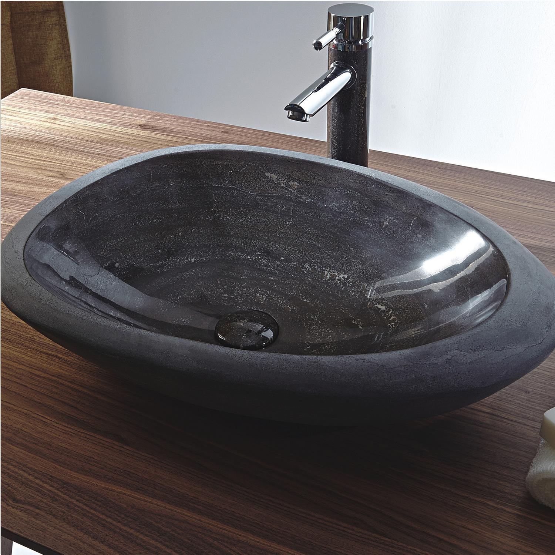 Dark Blue Marble Vessel Sink